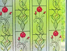3D Embossed Stained Glass Decorative Frosted Static Window Vinyl Privacy Film