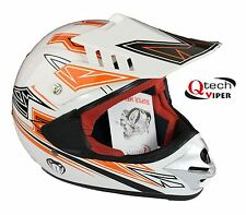 Childrens MOTOCROSS Crash HELMET kids child MX Junior ATV BMX motorcross ORANGE