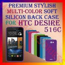 ACM-PREMIUM MULTI-COLOR SOFT SILICON BACK CASE for HTC DESIRE 516C MOBILE COVER