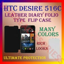 ACM-LEATHER DIARY FOLIO FLIP CASE for HTC DESIRE 516C MOBILE FRONT & BACK COVER