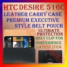 ACM-BELT CASE for HTC DESIRE 516C MOBILE LEATHER CARRY POUCH PREMIUM COVER CLIP