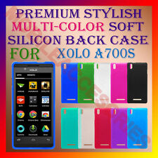 ACM-PREMIUM RICH MULTI-COLOR SOFT SILICON BACK CASE for XOLO A700S MOBILE COVER
