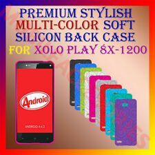 ACM-PREMIUM RICH MULTI-COLOR SOFT SILICON BACK CASE for XOLO PLAY 8X-1200 COVER