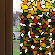 Graceful Style Frosted Static Stained Glass Decorative Vinyl Privacy Window Film