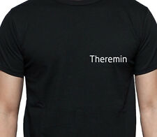 THEREMIN PERSONALISED POCKET LOGO T SHIRT MUSCIAL INSTRUMENT