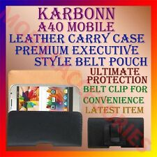 ACM-BELT CASE for KARBONN A40 MOBILE LEATHER POUCH CARRY PREMIUM COVER HOLDER