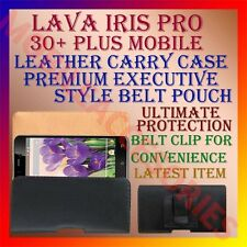 ACM-BELT CASE for LAVA IRIS PRO 30+ PLUS MOBILE LEATHER POUCH COVER CLIP HOLDER