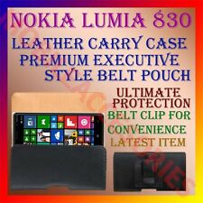 ACM-BELT CASE for NOKIA LUMIA 830 MOBILE LEATHER POUCH CARRY COVER CLIP HOLDER