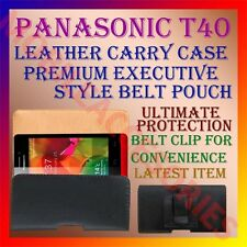 ACM-BELT CASE for PANASONIC T40 MOBILE LEATHER POUCH CARRY COVER CLIP HOLDER NEW