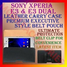 ACM-BELT CASE for SONY XPERIA E3 & E3 DUAL MOBILE LEATHER POUCH COVER CLIP NEW