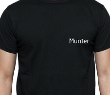 MUNTER T SHIRT PERSONALISED TEE SUR NAME FAMILY NAME CUSTOM