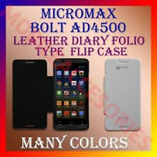 ACM-LEATHER DIARY FOLIO FLIP FLAP CASE for MICROMAX BOLT AD4500 MOBILE COVER NEW