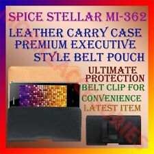 ACM-BELT CASE for SPICE STELLAR MI-362 MOBILE LEATHER POUCH COVER CLIP HOLDER