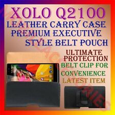 ACM-BELT CASE for XOLO Q2100 MOBILE LEATHER POUCH PREMIUM COVER CLIP HOLDER NEW