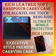ACM-RICH LEATHER SOFT CASE for ALCATEL ONE TOUCH HERO 8020 MOBILE COVER POUCH