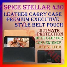 ACM-BELT CASE for SPICE STELLAR 430 MOBILE LEATHER POUCH COVER CLIP HOLDER NEW