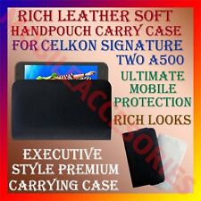 ACM-RICH LEATHER SOFT CASE for CELKON SIGNATURE TWO A500 HANDPOUCH COVER HOLDER