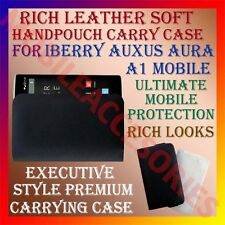 ACM-RICH LEATHER SOFT CASE for IBERRY AUXUS AURA A1 MOBILE HANDPOUCH COVER NEW