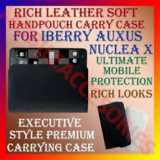 ACM-RICH LEATHER SOFT CASE for IBERRY AUXUS NUCLEA X MOBILE HANDPOUCH COVER NEW