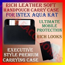 ACM-RICH LEATHER SOFT CASE for INTEX AQUA KAT MOBILE HANDPOUCH COVER HOLDER NEW