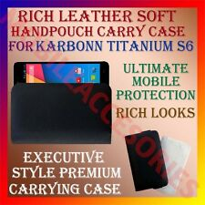 ACM-RICH LEATHER SOFT CASE for KARBONN TITANIUM S6 MOBILE HANDPOUCH COVER HOLDER