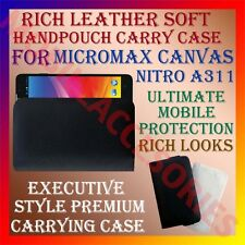 ACM-RICH LEATHER SOFT CASE for MICROMAX CANVAS NITRO A311 MOBILE HANDPOUCH COVER