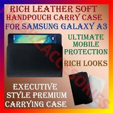 ACM-RICH LEATHER SOFT CASE for SAMSUNG GALAXY A3 MOBILE HANDPOUCH PREMIUM COVER