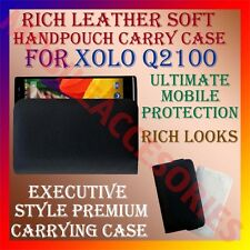 ACM-RICH LEATHER SOFT CASE for XOLO Q2100 MOBILE HANDPOUCH PREMIUM COVER HOLDER