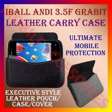 ACM-HORIZONTAL LEATHER CARRY CASE for IBALL ANDI 3.5F GRABIT MOBILE POUCH COVER