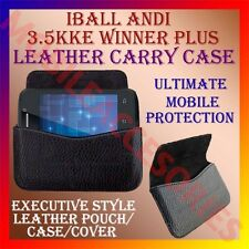 ACM-HORIZONTAL LEATHER CARRY CASE for IBALL ANDI 3.5KKE WINNER PLUS POUCH COVER