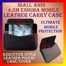 ACM-HORIZONTAL LEATHER CARRY CASE for IBALL ANDI 4.5M ENIGMA MOBILE POUCH COVER
