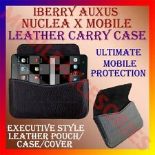 ACM-HORIZONTAL LEATHER CARRY CASE of IBERRY AUXUS NUCLEA X MOBILE POUCH COVER