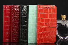 GENUINE CROCODILE LEATHER WALLET FLIP CASE FOR iPhone 6 AND iPhone 6 Plus