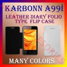 ACM-LEATHER DIARY FOLIO FLIP CASE for KARBONN A99i MOBILE FRONT & BACK COVER NEW