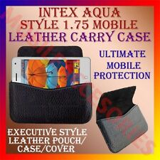 ACM-HORIZONTAL LEATHER CARRY CASE of INTEX AQUA STYLE 1.75 MOBILE POUCH COVER