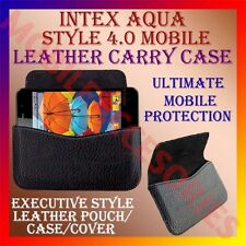 ACM-HORIZONTAL LEATHER CARRY CASE for INTEX AQUA STYLE 4.0 MOBILE POUCH COVER