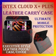 ACM-HORIZONTAL LEATHER CARRY CASE for INTEX CLOUD X+ PLUS MOBILE POUCH COVER NEW