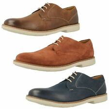 Mens Clarks Smart Casual Lace Up Suede / Nubuck Leather Shoes - Raspin Plan