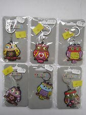 LESSER AND PAVEY RUBBER OWL KEYRING (6 DESIGNS) LP22015