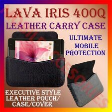 ACM-HORIZONTAL LEATHER CARRY CASE for LAVA IRIS 400Q MOBILE POUCH RICH COVER