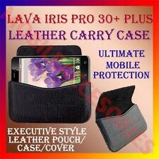 ACM-HORIZONTAL LEATHER CARRY CASE for LAVA IRIS PRO 30+ PLUS MOBILE POUCH COVER