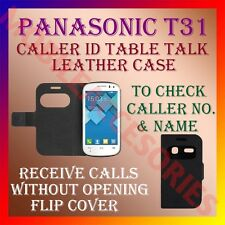 ACM-CALLER ID TABLE TALK CASE for PANASONIC T31 MOBILE FRONT & BACK FLIP COVER