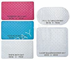 Bubble Bath Shower Mat  Rubber  Anti Non Slip Suction Cup Grip Bathroom