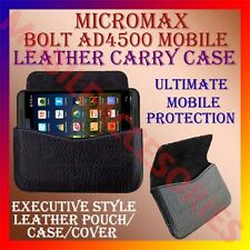 ACM-HORIZONTAL LEATHER CARRY CASE of MICROMAX BOLT AD4500 MOBILE POUCH COVER NEW