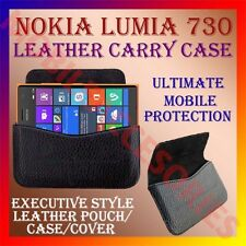 ACM-HORIZONTAL LEATHER CARRY CASE for NOKIA LUMIA 730 MOBILE POUCH COVER HOLDER