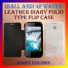 ACM-LEATHER DIARY FOLIO FLIP FLAP CASE for IBALL ANDI 4F WAVES MOBILE FULL COVER