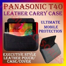 ACM-HORIZONTAL LEATHER CARRY CASE for PANASONIC T40 MOBILE POUCH COVER HOLDER
