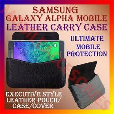 ACM-HORIZONTAL LEATHER CARRY CASE for SAMSUNG GALAXY ALPHA MOBILE POUCH COVER