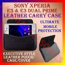 ACM-HORIZONTAL LEATHER CARRY CASE for SONY XPERIA  E3 & E3 DUAL MOBILE COVER NEW