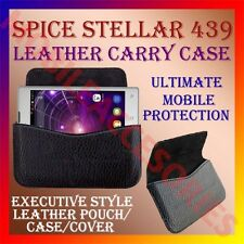 ACM-HORIZONTAL LEATHER CARRY CASE for SPICE STELLAR 470 MOBILE POUCH COVER NEW